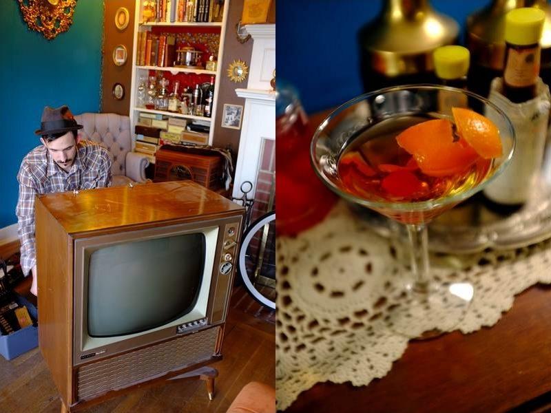 Reciclagem de televisor antigo