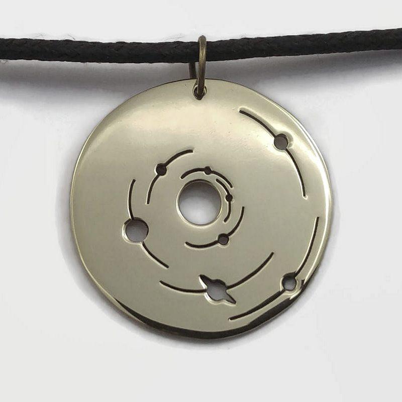 Medalha de metal para cordão