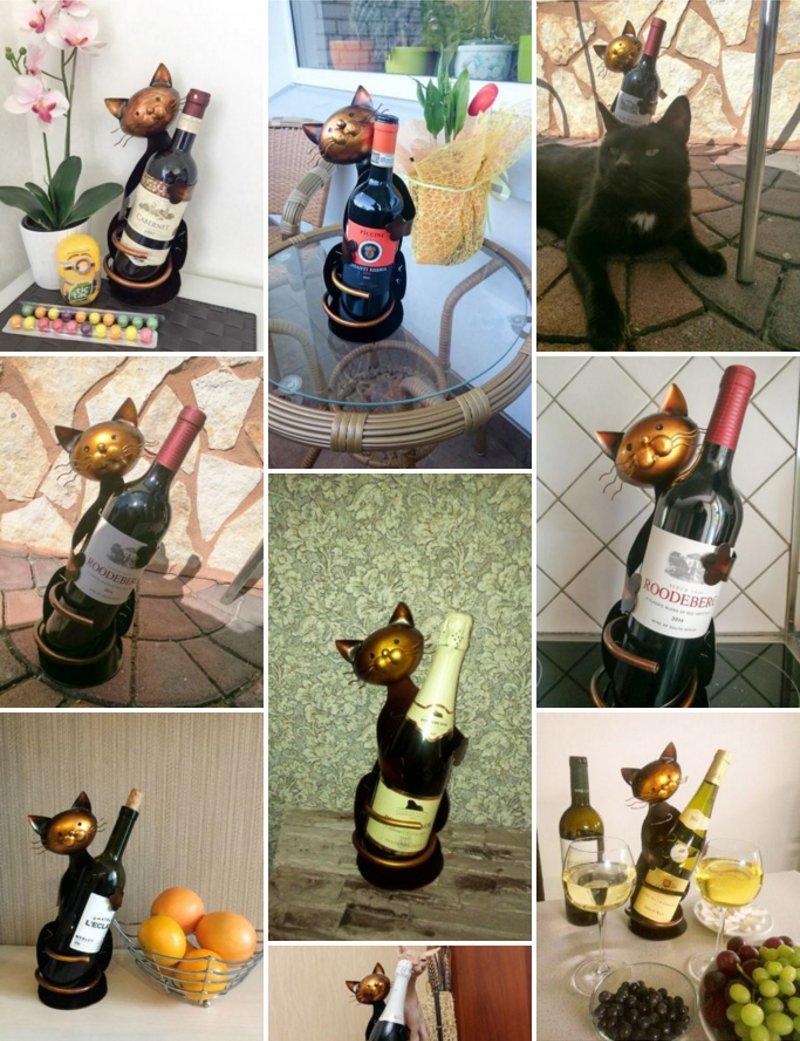 Arranjos com garrafas de vinho