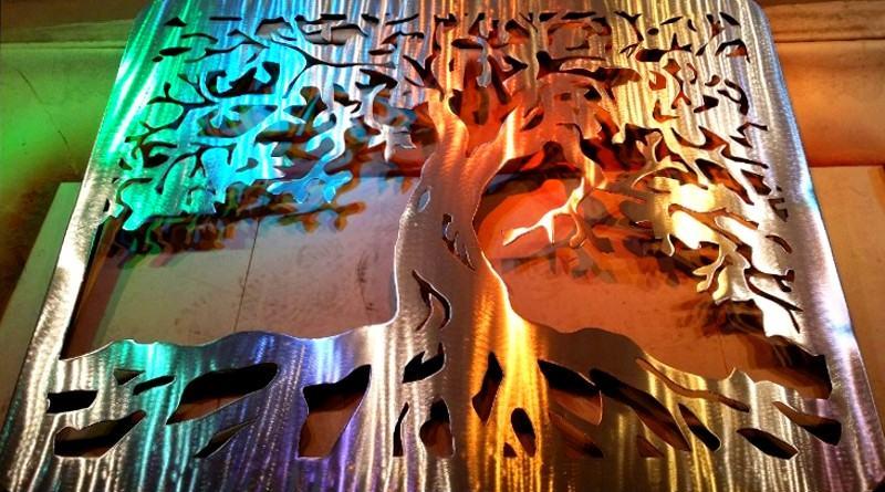 Painel de metal holográfico