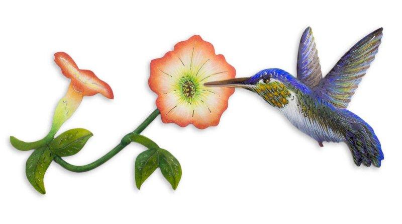 Colibri pintado à mão