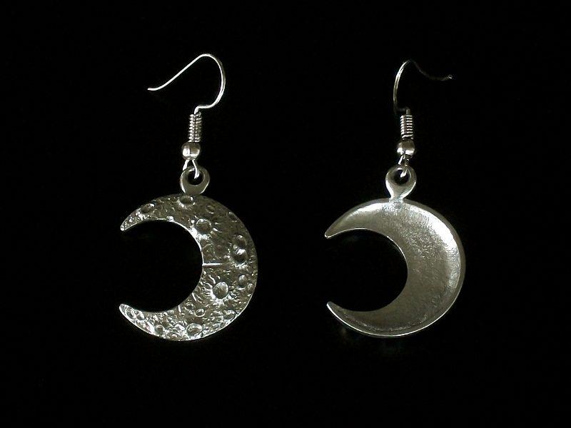 Brinquinhos Meia-Lua de pewter