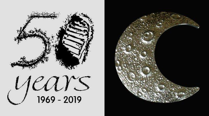 Pingente em comemoração aos 50 anos de conquista da Lua
