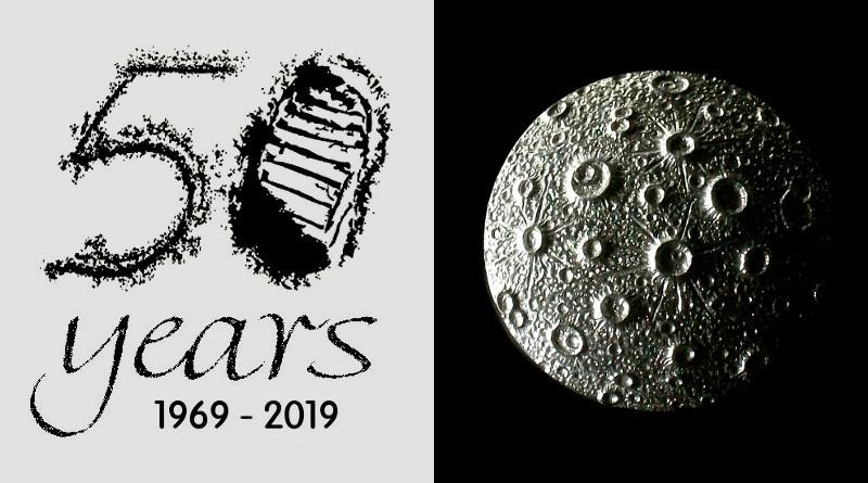 Símbolo em comemoração aos 50 anos da chegada do homem à lua