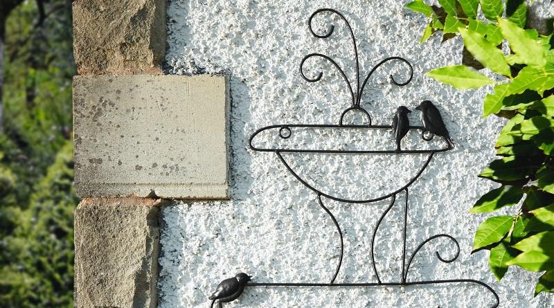 Painel de metal para decoração de jardins