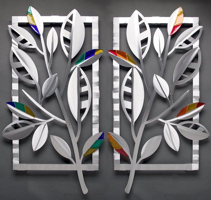 Decoração com quadro de metal