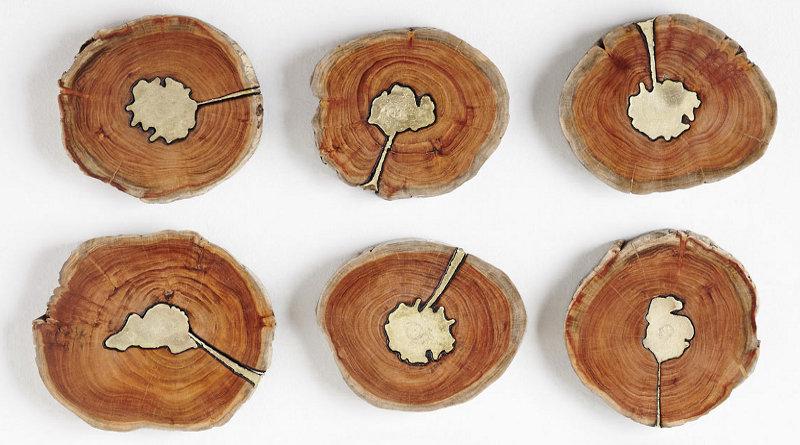 Decoração de parede com madeira reclicada