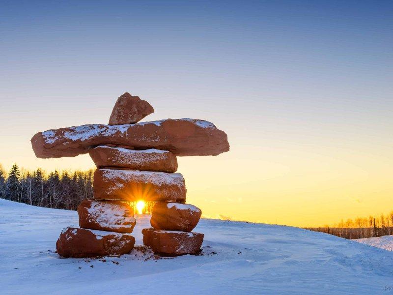 Figura mítica de pedra