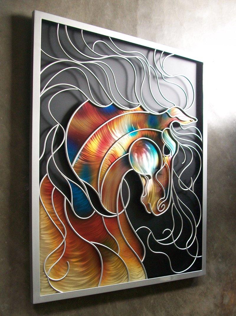 Painel com cabeça de cavalo