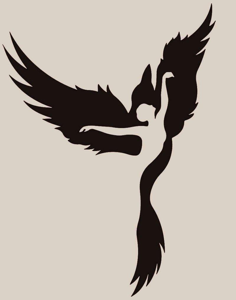 Silhueta da ave Fênix