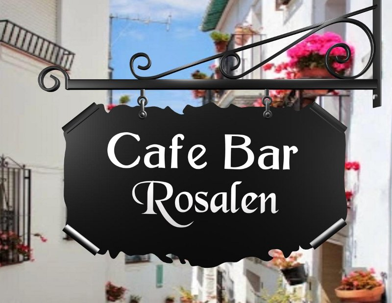 Letreiro de metal para café e bar