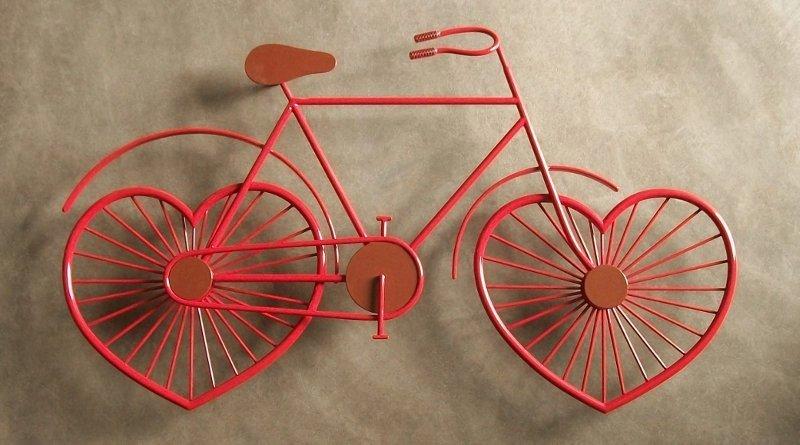 Bike de ferro forjado para decoração